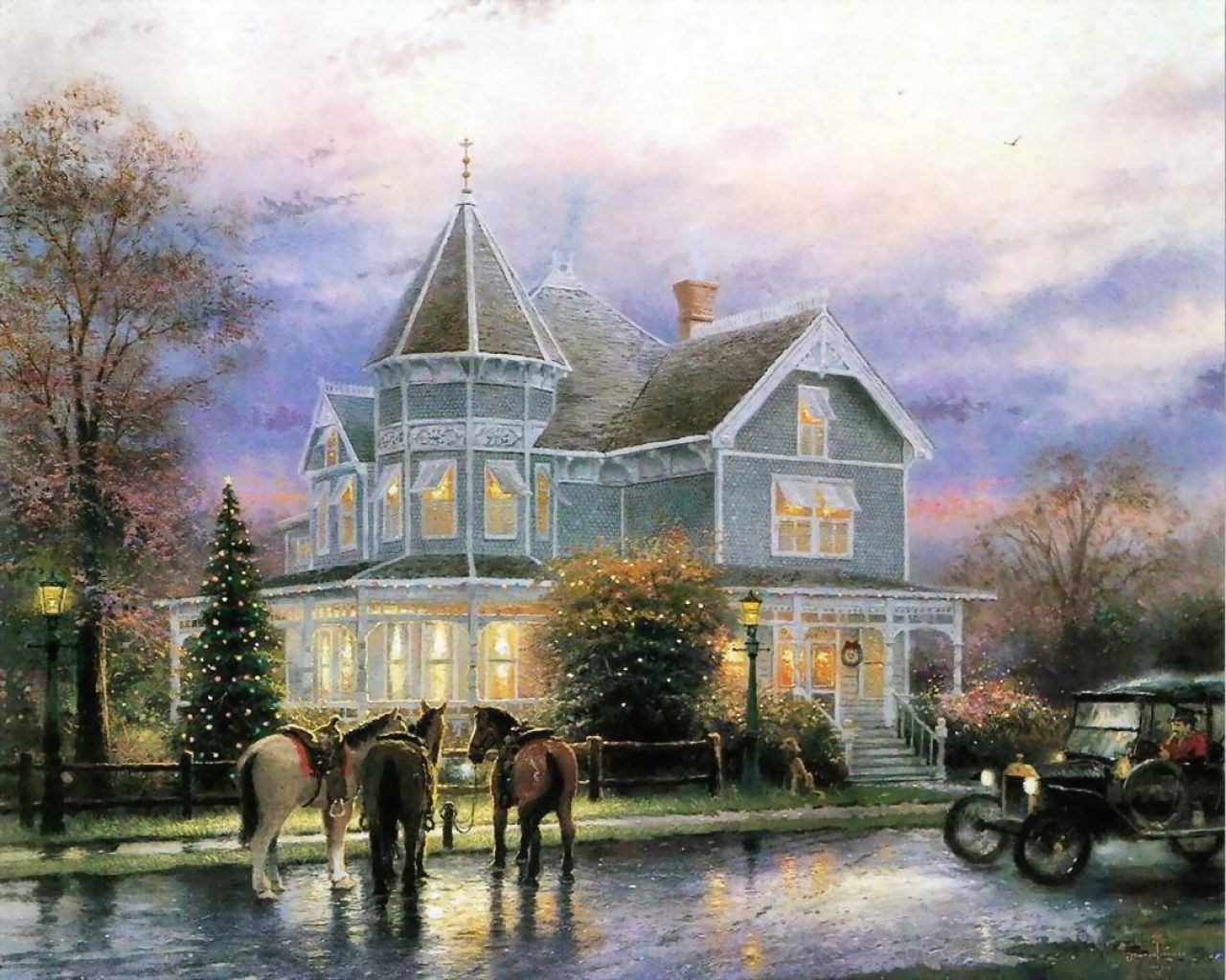Thomas Kinkade - a beautiful house