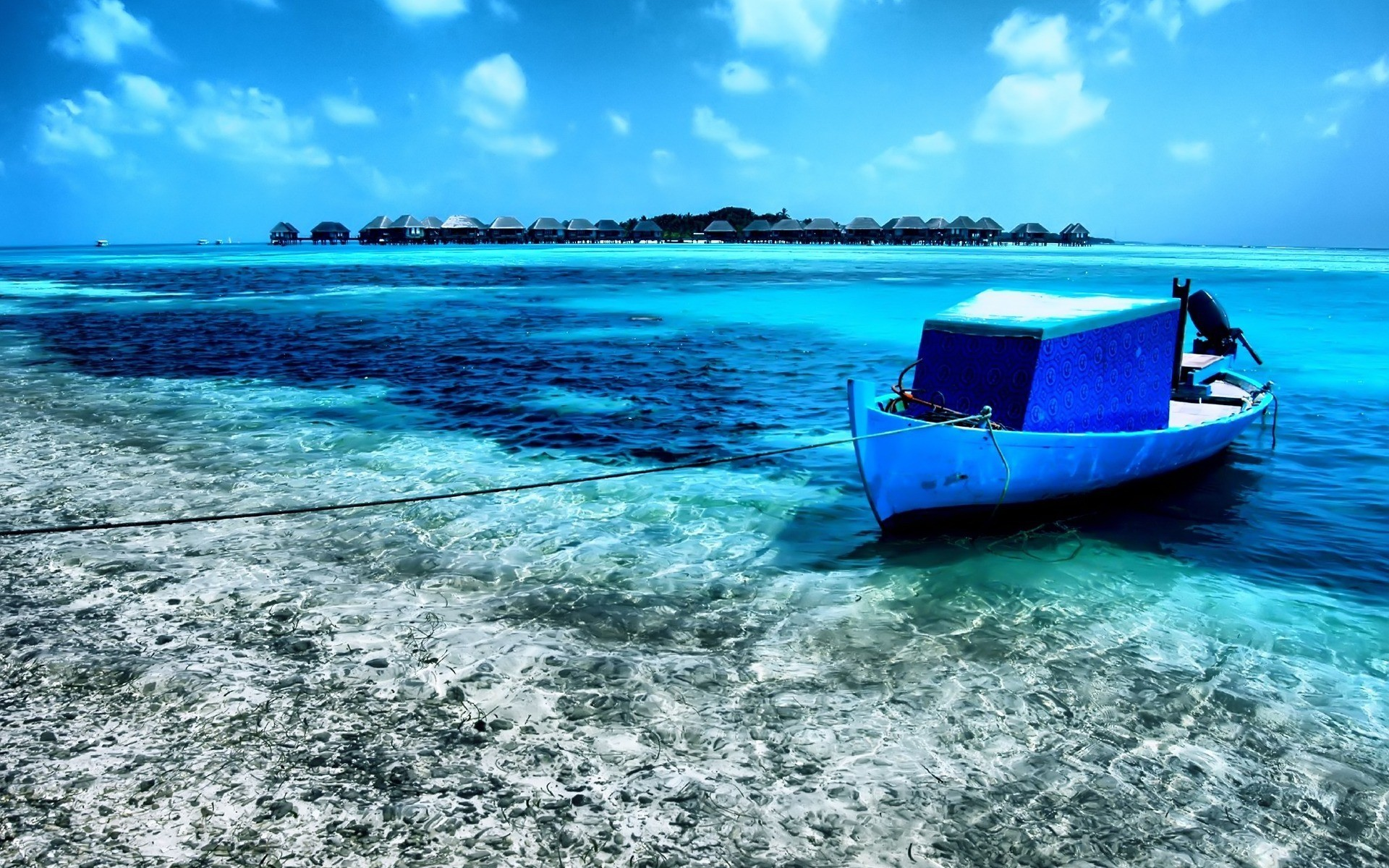 Boat in shallow water