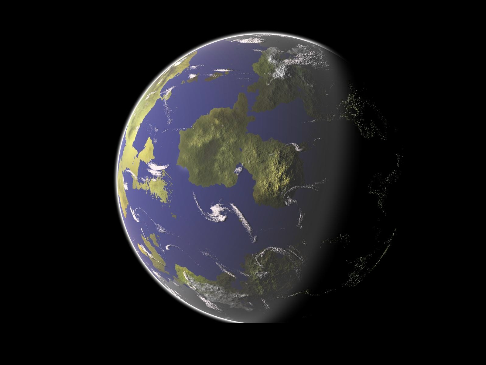 Planet earth - the image of the earth - a picture for your desktop