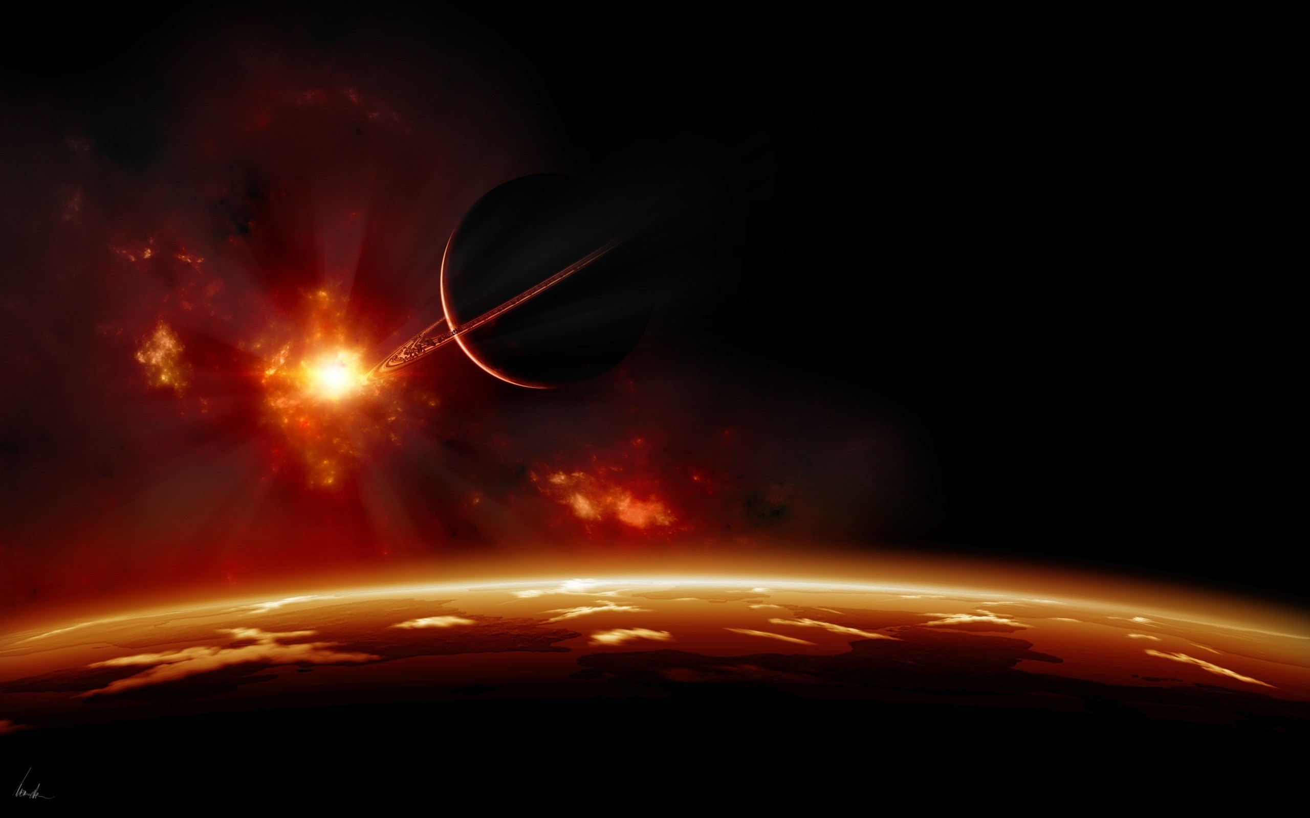 Space Landscape Wallpaper Space landscape