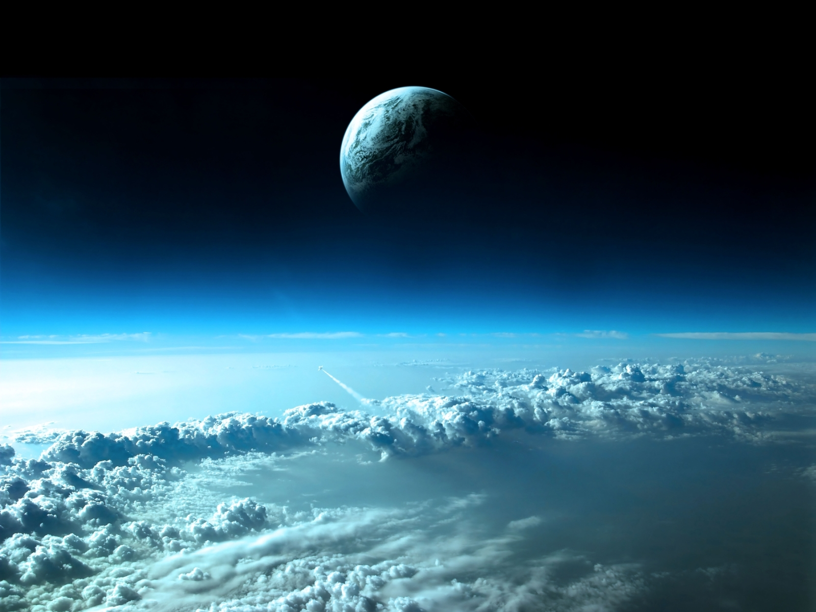 The flight to the distant planet