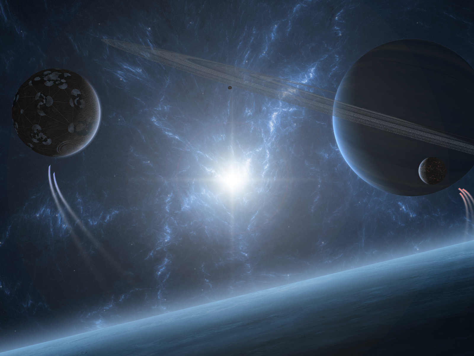 The planet and the star