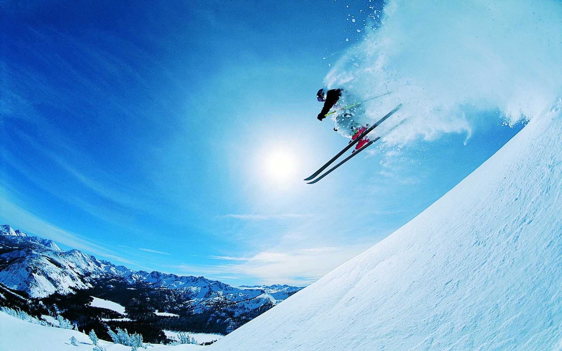 Jump on the ski slopes