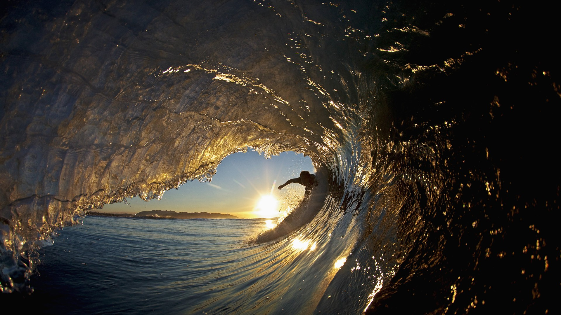 Photo of a surfer wave