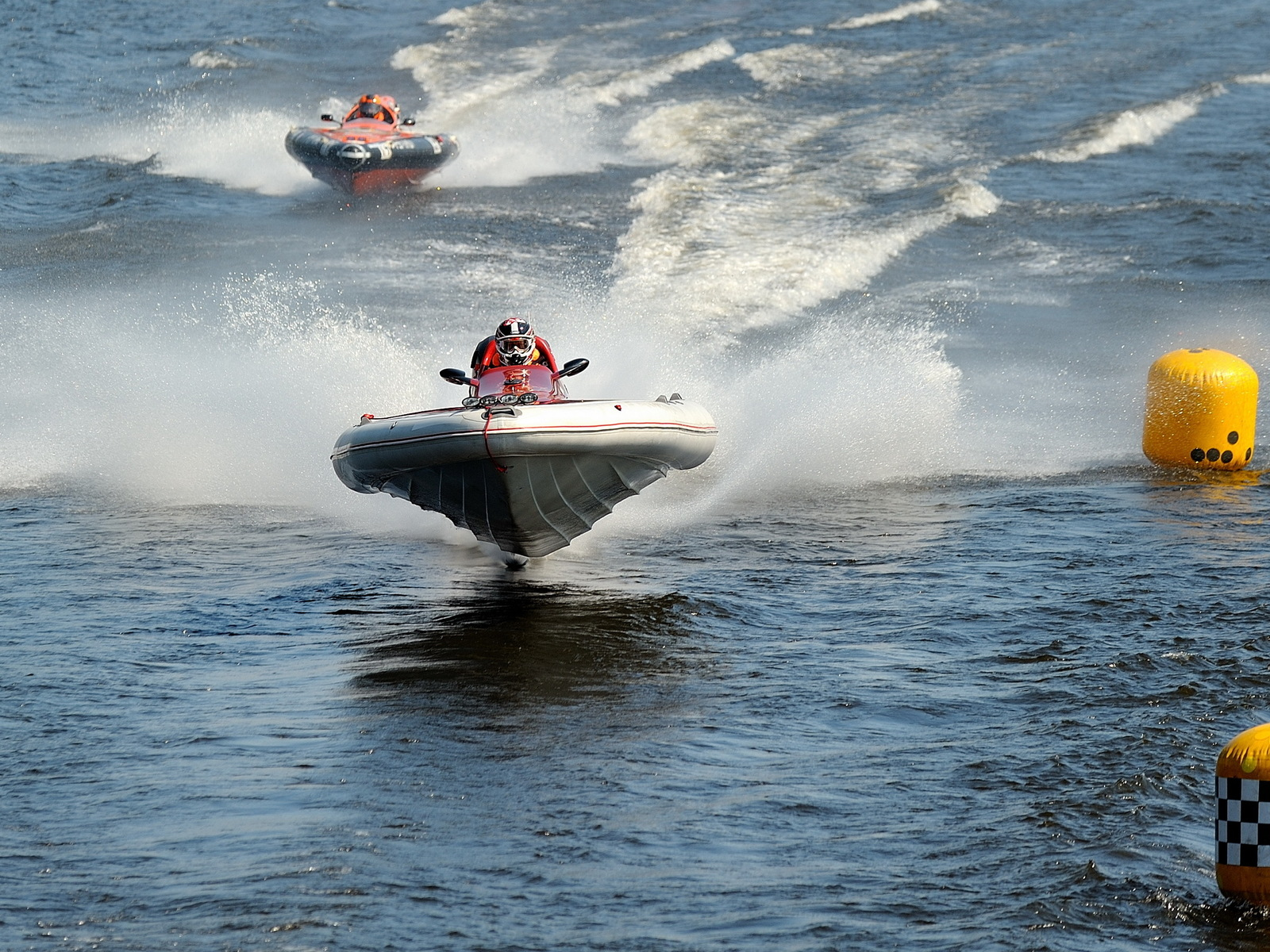 Racing on boats