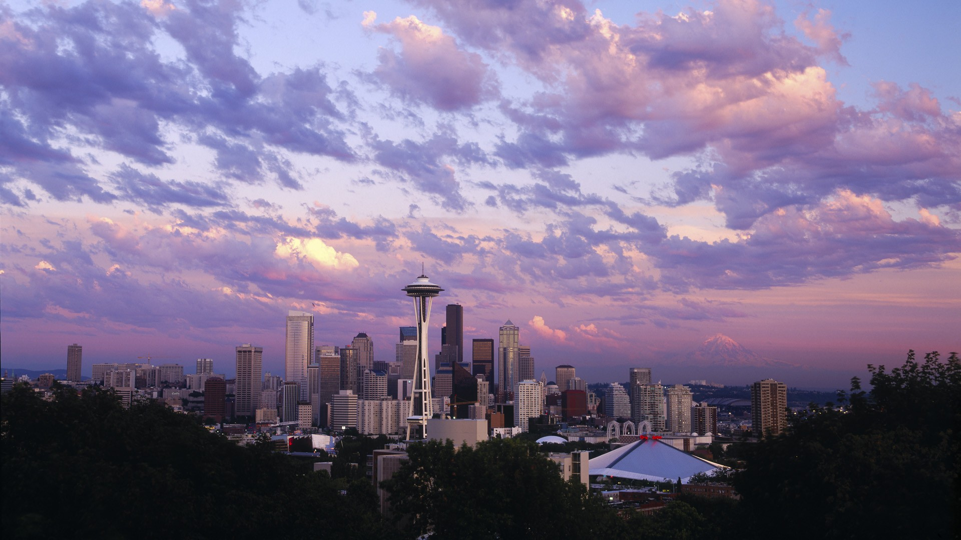 Beautiful panorama of the city of Seattle, Washington, USA