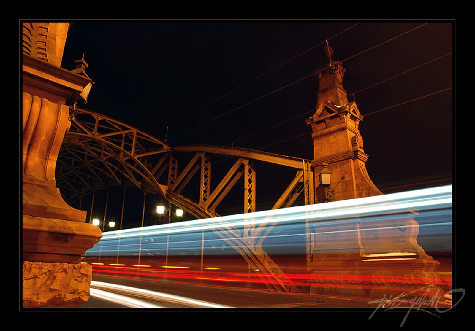 Bridge and the high-speed train - wallpapers - the theme of