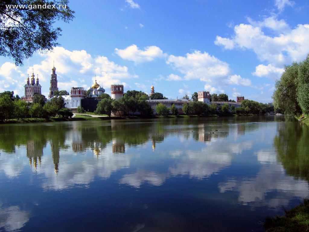 City of Moscow and the Moscow River wallpaper, city