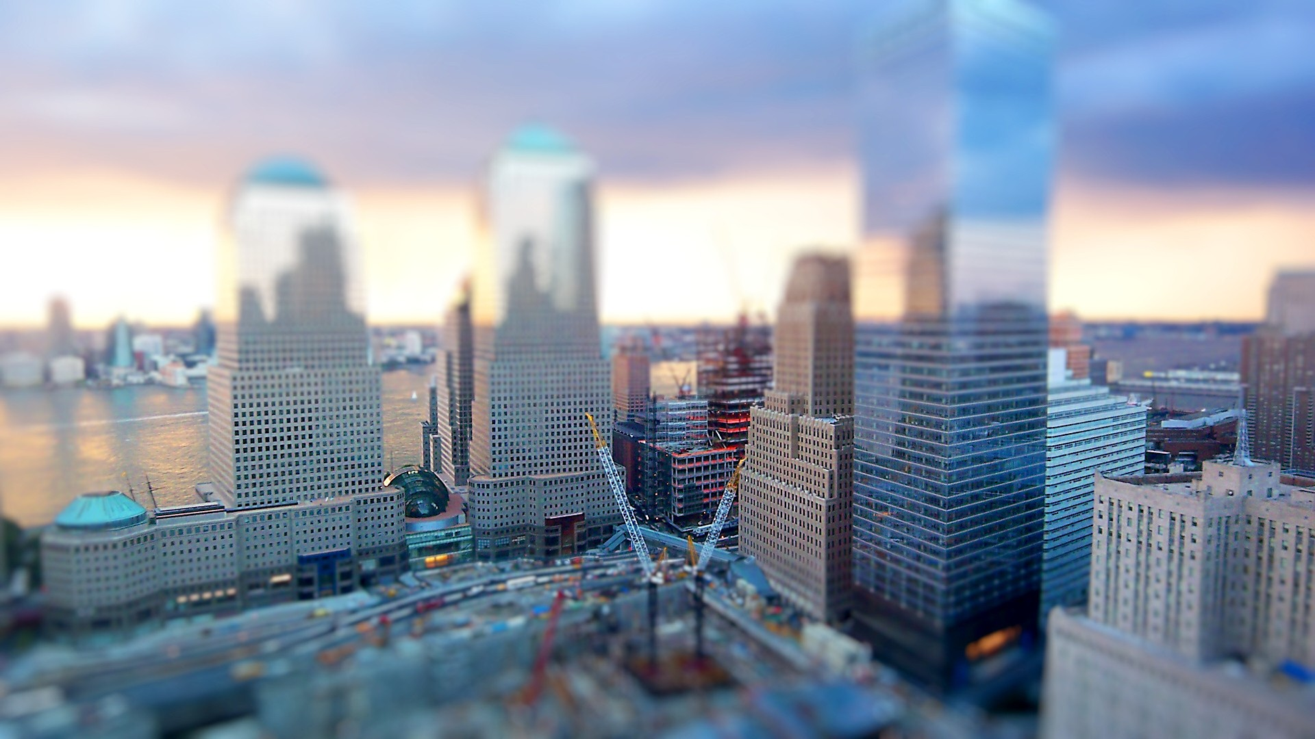 Tilt Shift photo of