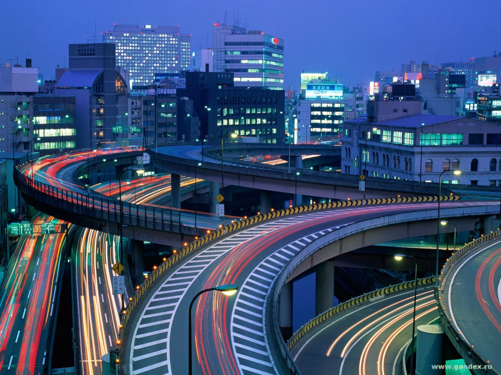 Tokyo City at night - wallpaper, the theme of